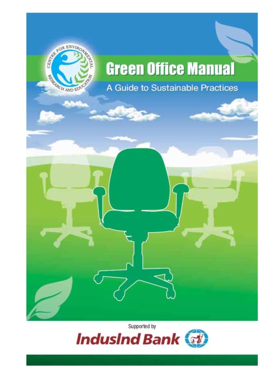 green office manual carbon map cap